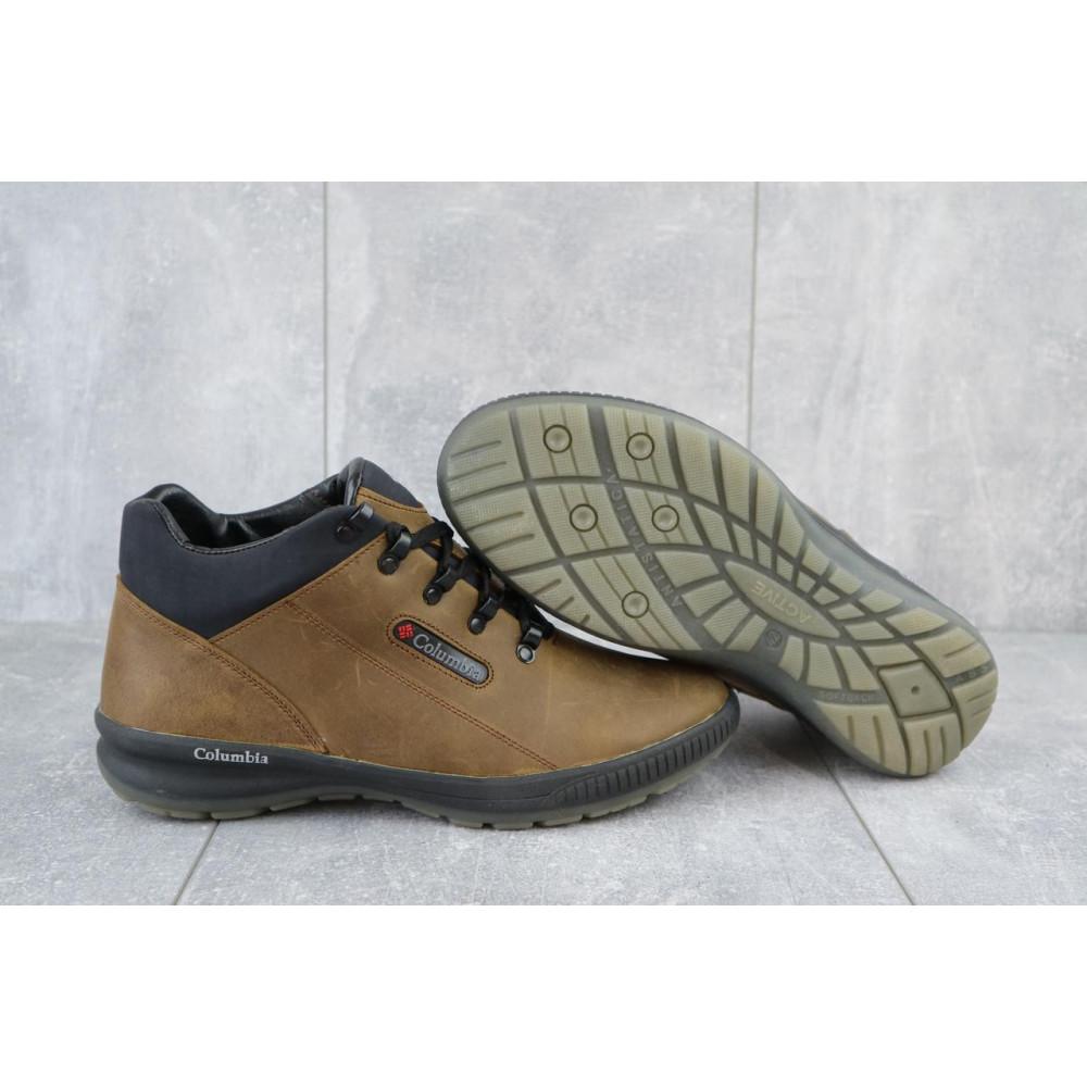 Зимние кроссовки мужские - Мужские кроссовки кожаные зимние оливковые CrosSAV 92 7