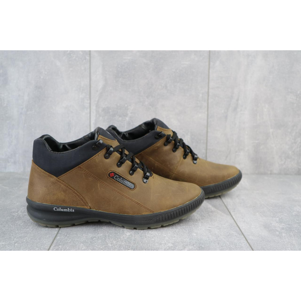 Зимние кроссовки мужские - Мужские кроссовки кожаные зимние оливковые CrosSAV 92 4