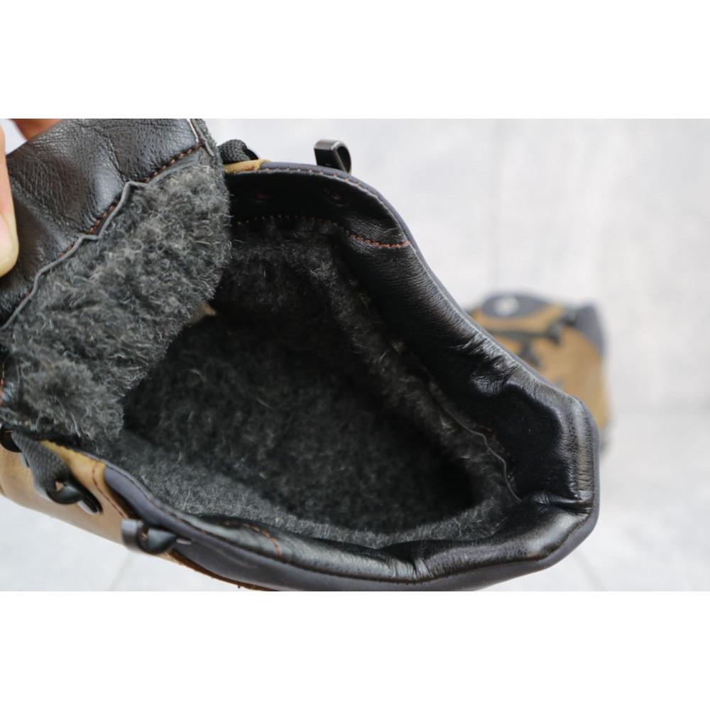 Зимние кроссовки мужские - Мужские кроссовки кожаные зимние оливковые CrosSAV 92 2