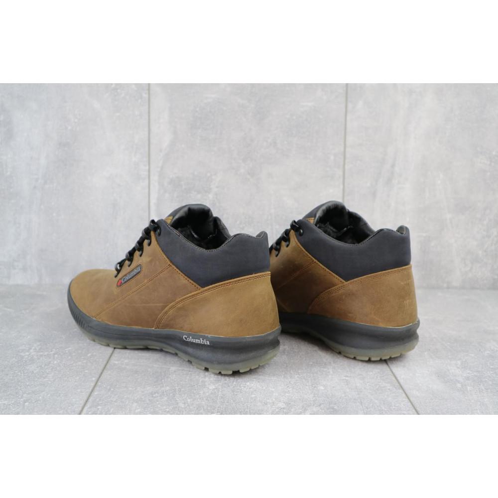 Зимние кроссовки мужские - Мужские кроссовки кожаные зимние оливковые CrosSAV 92 3