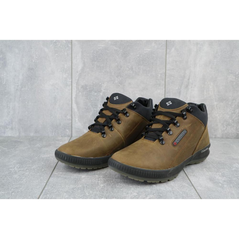 Зимние кроссовки мужские - Мужские кроссовки кожаные зимние оливковые CrosSAV 92 1