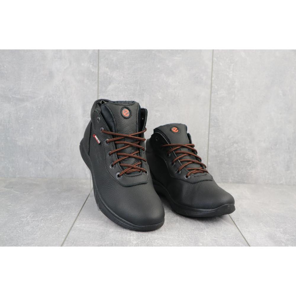 Зимние кроссовки мужские - Мужские кроссовки кожаные зимние черные Yavgor 635