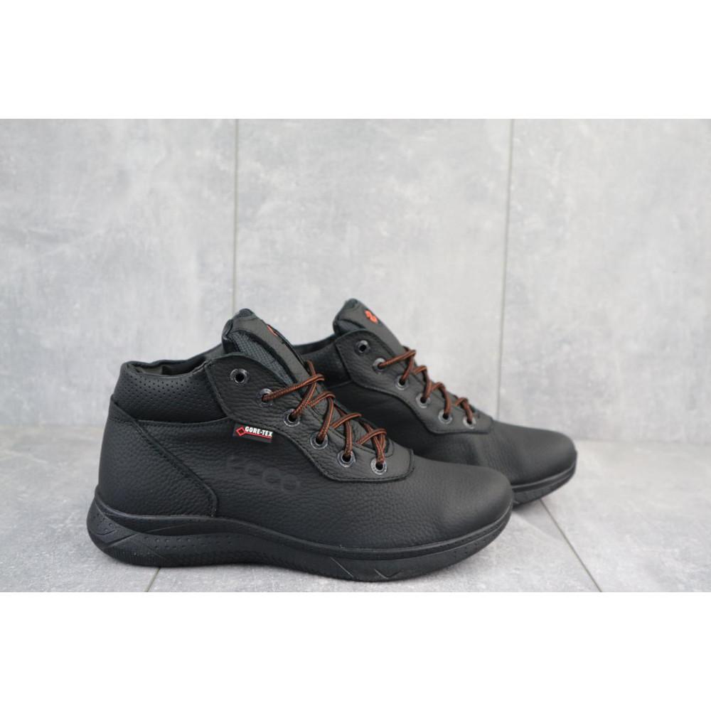 Зимние кроссовки мужские - Мужские кроссовки кожаные зимние черные Yavgor 635 5