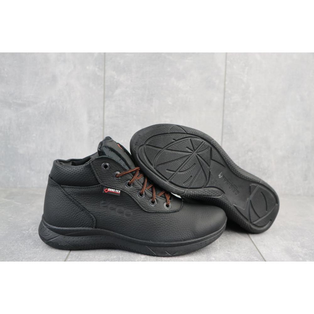 Зимние кроссовки мужские - Мужские кроссовки кожаные зимние черные Yavgor 635 4