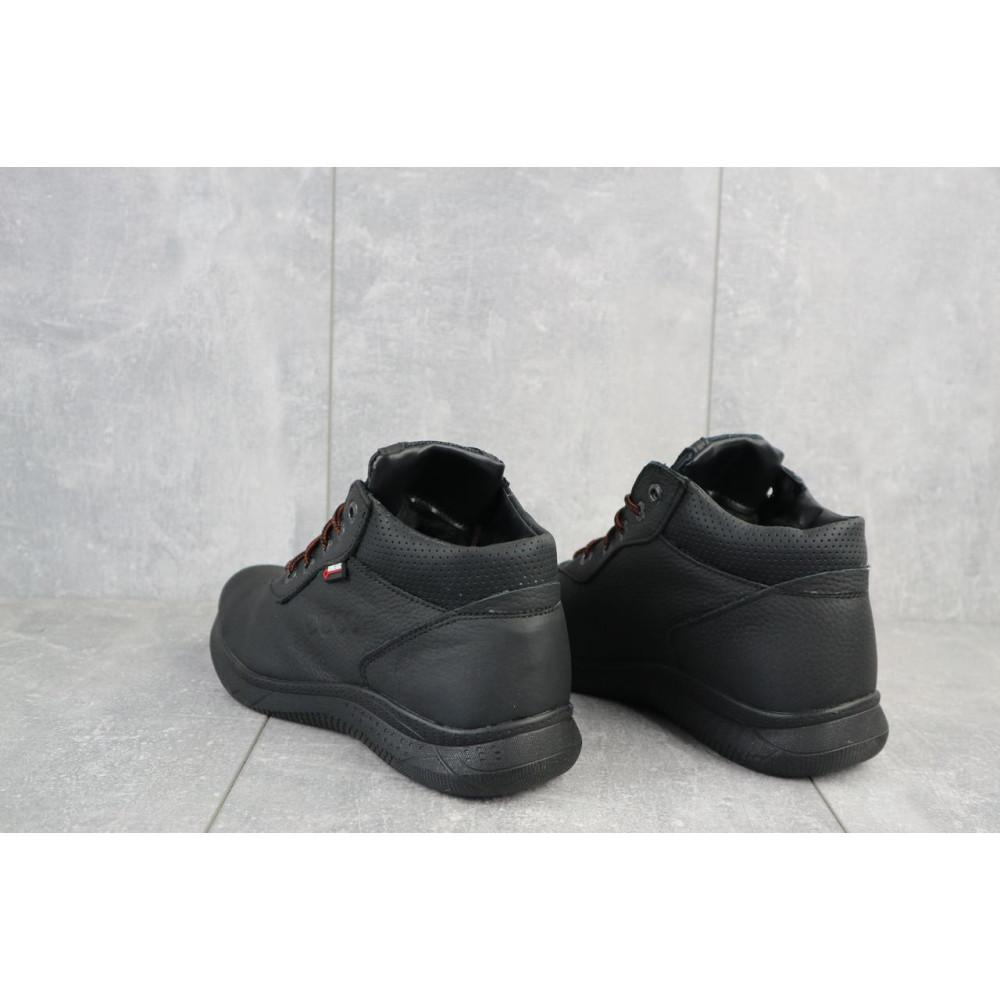 Зимние кроссовки мужские - Мужские кроссовки кожаные зимние черные Yavgor 635 3