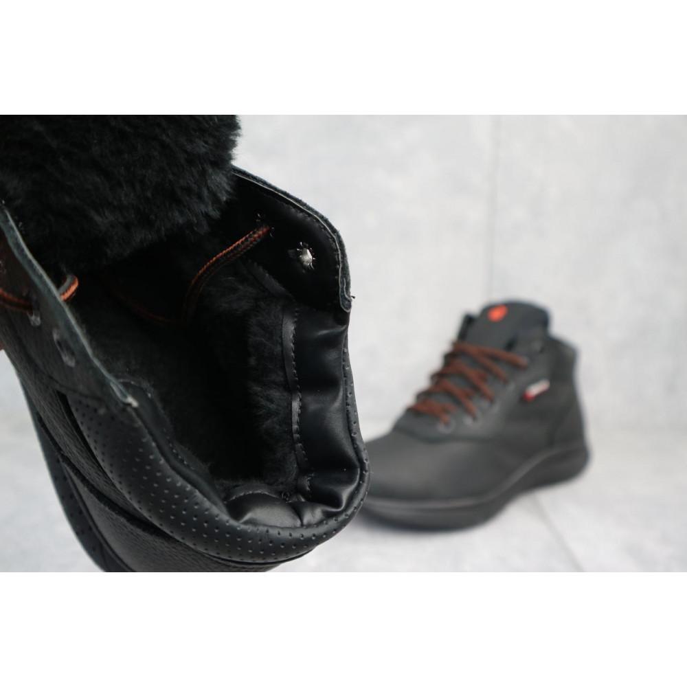 Зимние кроссовки мужские - Мужские кроссовки кожаные зимние черные Yavgor 635 1
