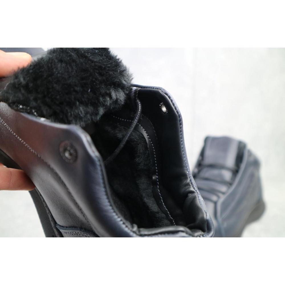 Зимние кроссовки мужские - Мужские кроссовки кожаные зимние синие Yavgor 700 2