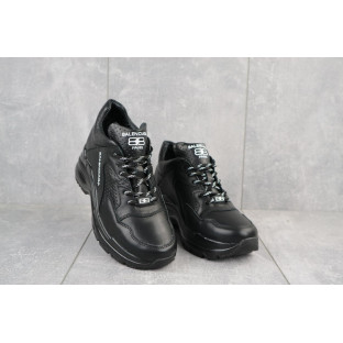 Женские кроссовки кожаные зимние черные Onward 622