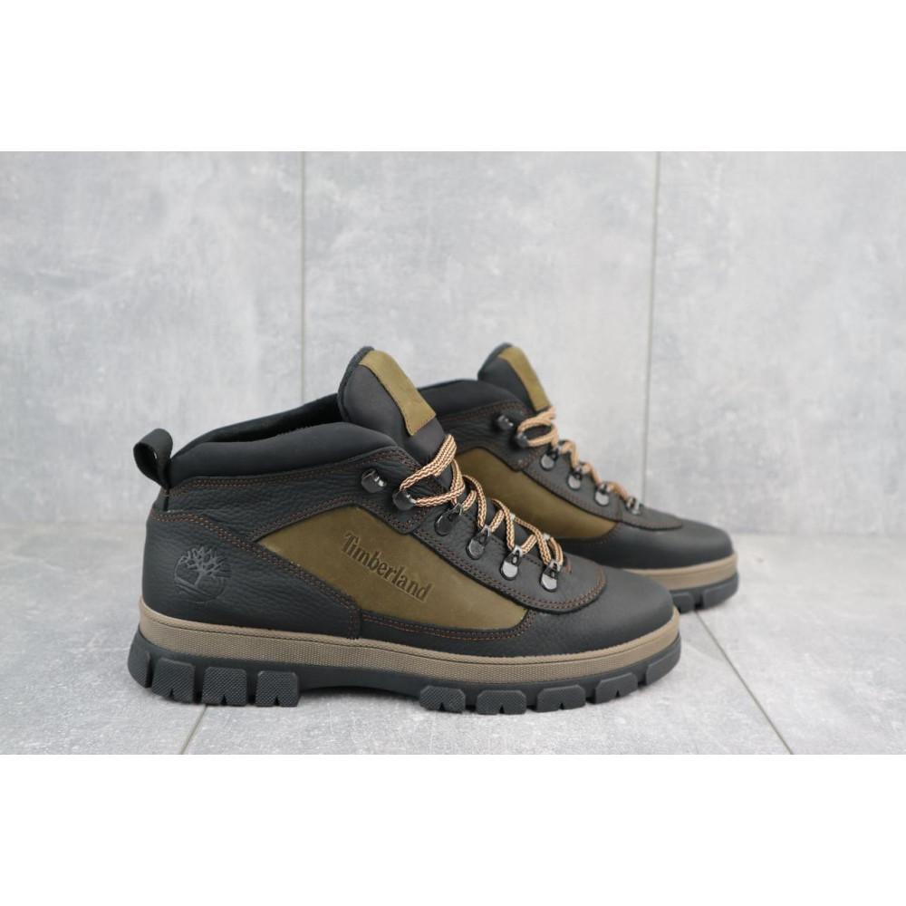 Мужские ботинки зимние - Мужские ботинки кожаные зимние черные-оливковые CrosSAV 301 4