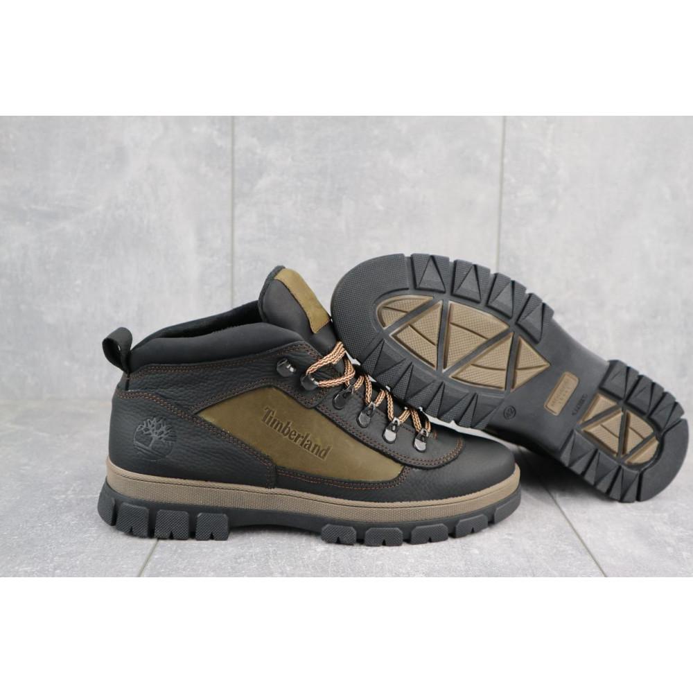 Мужские ботинки зимние - Мужские ботинки кожаные зимние черные-оливковые CrosSAV 301 5