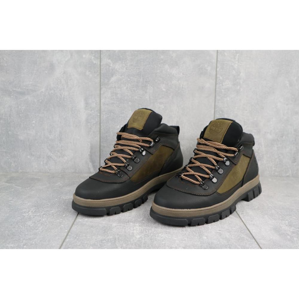 Мужские ботинки зимние - Мужские ботинки кожаные зимние черные-оливковые CrosSAV 301 3