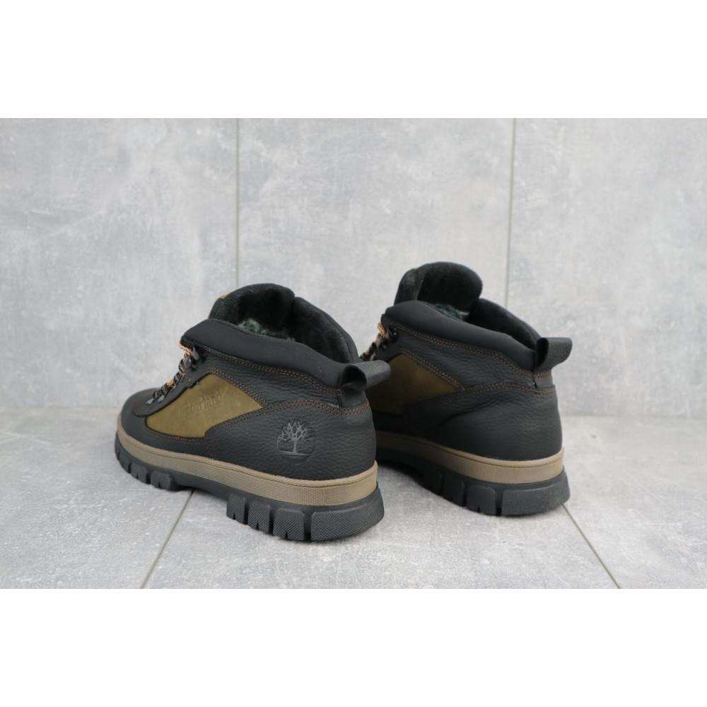 Мужские ботинки зимние - Мужские ботинки кожаные зимние черные-оливковые CrosSAV 301 2