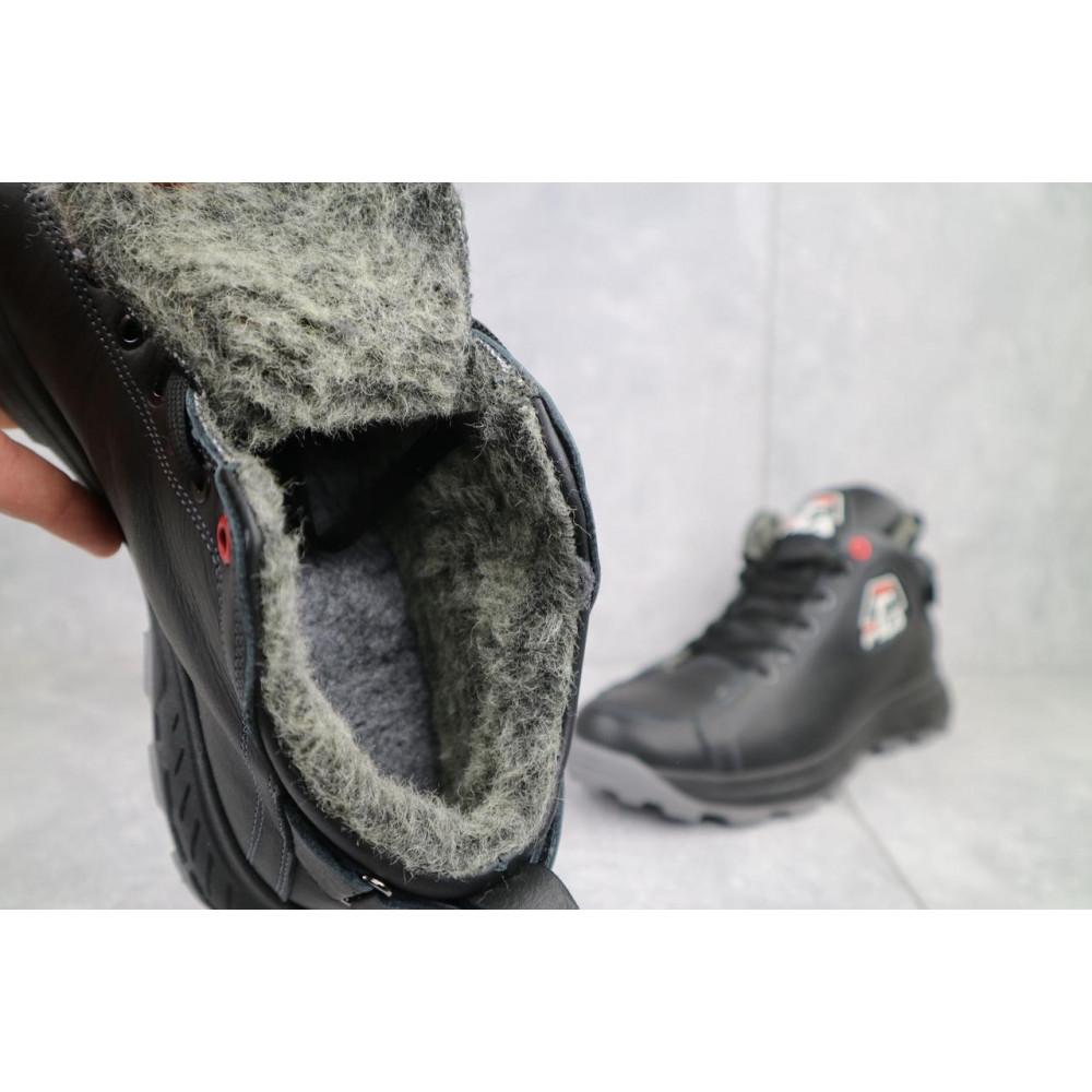 Мужские ботинки зимние - Мужские ботинки кожаные зимние черные Lions F3 4