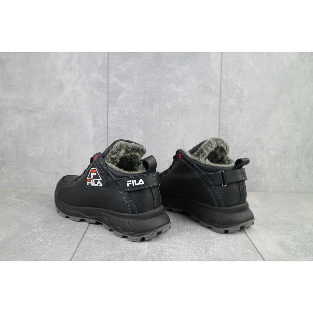 Мужские ботинки зимние - Мужские ботинки кожаные зимние черные Lions F3 3