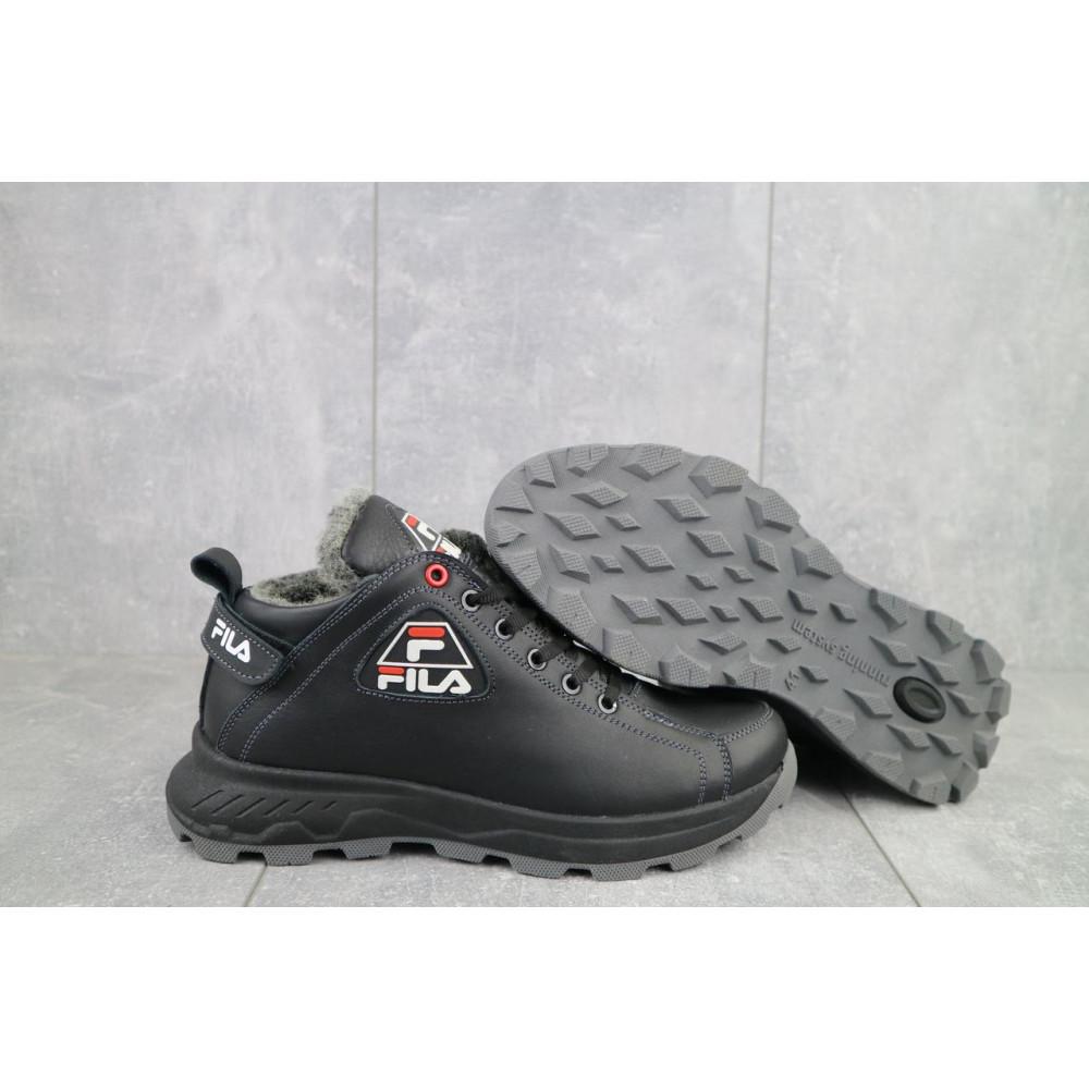 Мужские ботинки зимние - Мужские ботинки кожаные зимние черные Lions F3 5