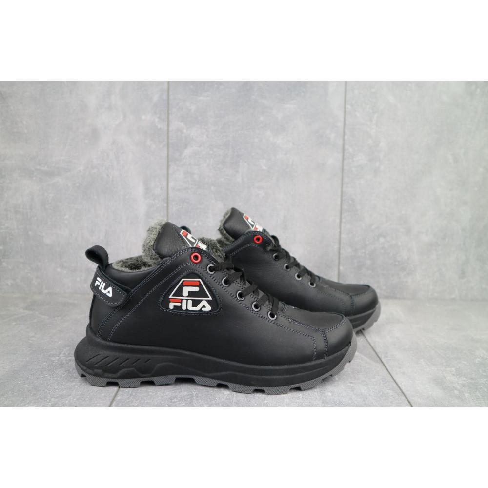 Мужские ботинки зимние - Мужские ботинки кожаные зимние черные Lions F3 1