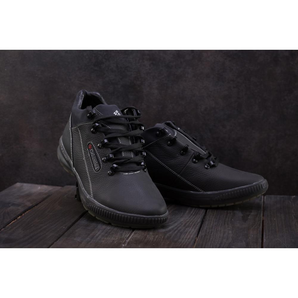 Зимние кроссовки мужские - Мужские кроссовки кожаные зимние черные CrosSAV 92