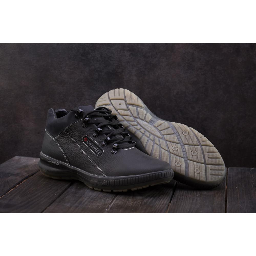 Зимние кроссовки мужские - Мужские кроссовки кожаные зимние черные CrosSAV 92 6