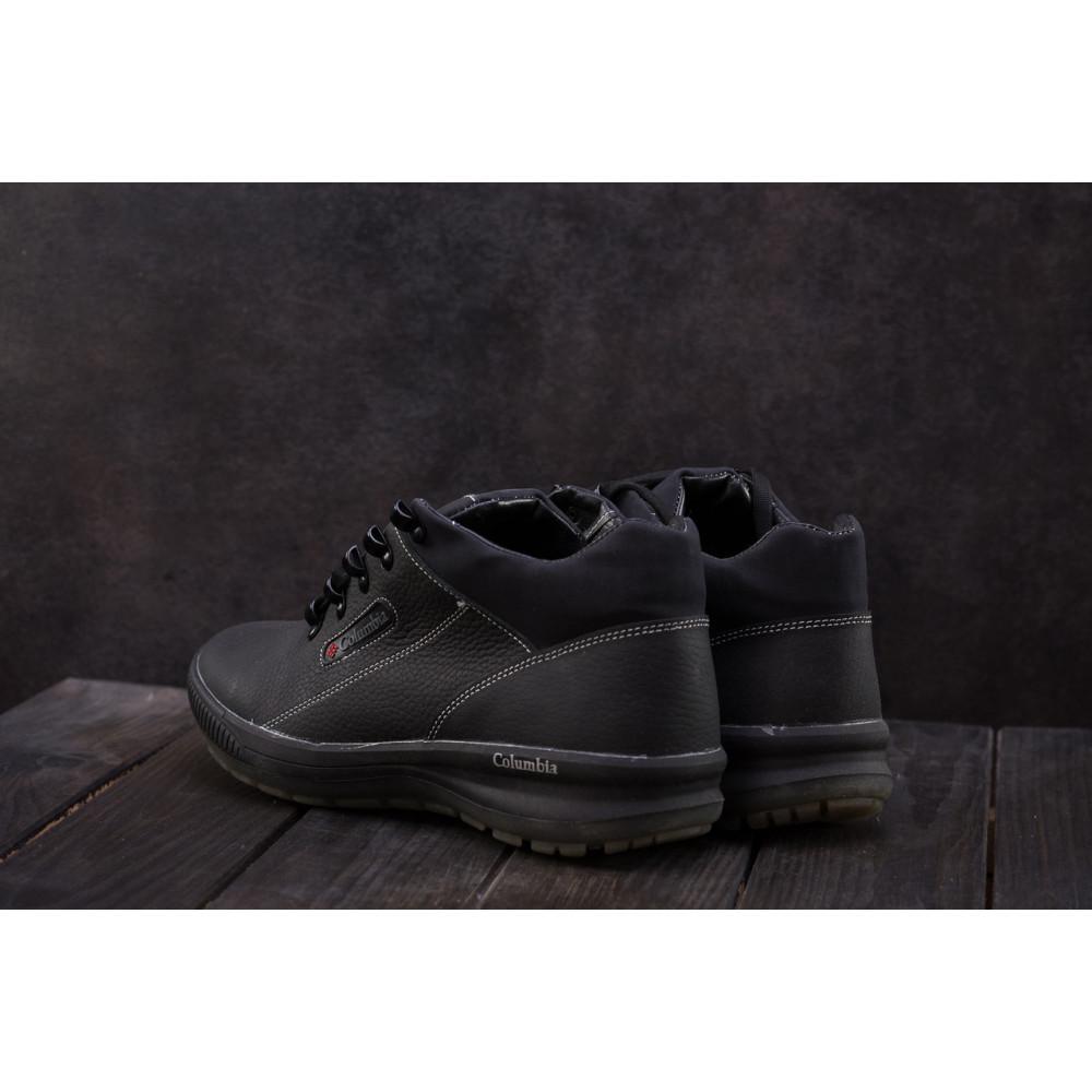 Зимние кроссовки мужские - Мужские кроссовки кожаные зимние черные CrosSAV 92 7