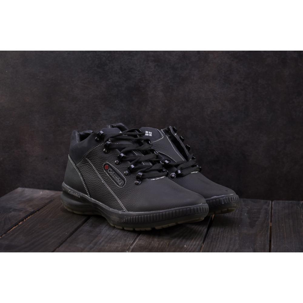 Зимние кроссовки мужские - Мужские кроссовки кожаные зимние черные CrosSAV 92 9