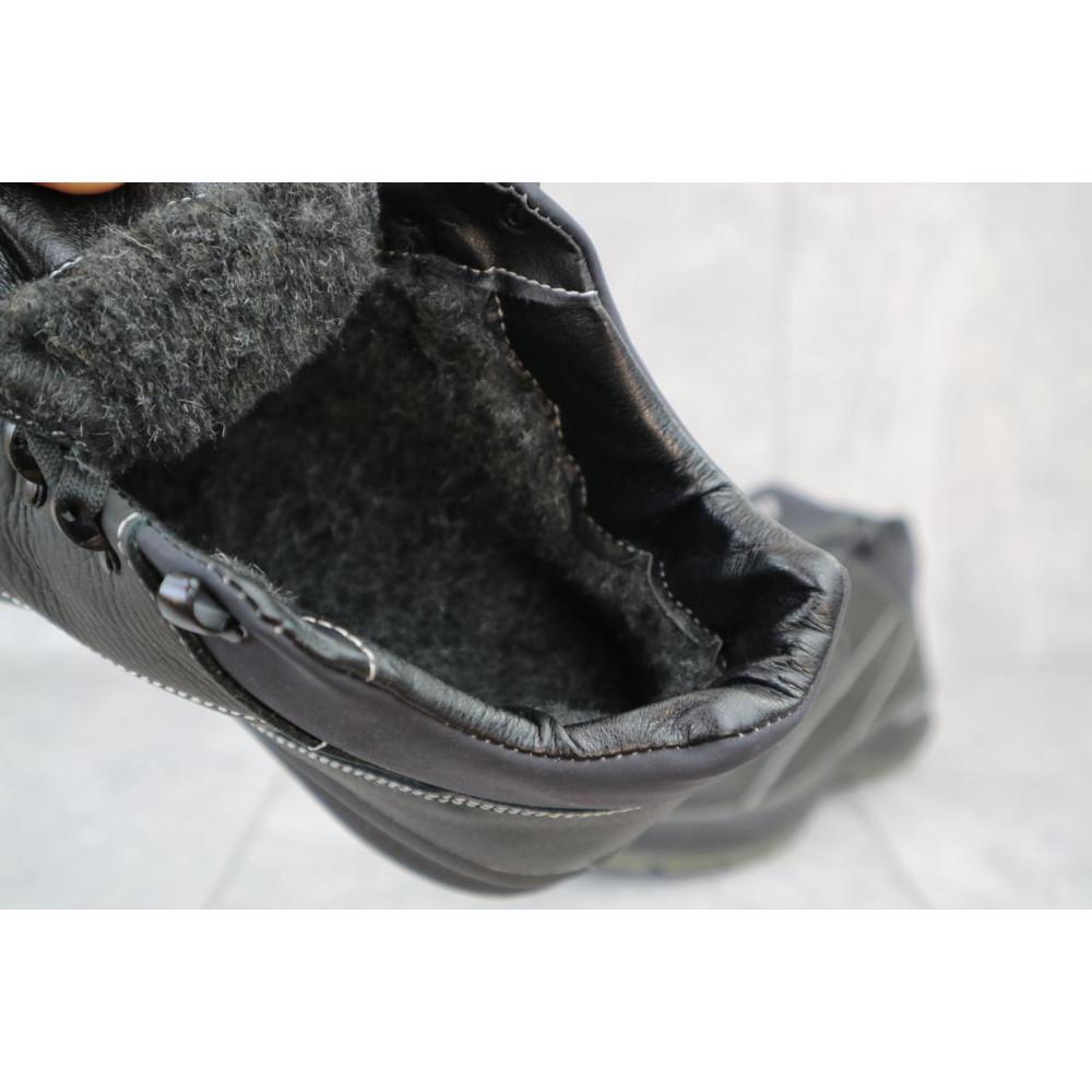 Зимние кроссовки мужские - Мужские кроссовки кожаные зимние черные CrosSAV 92 5