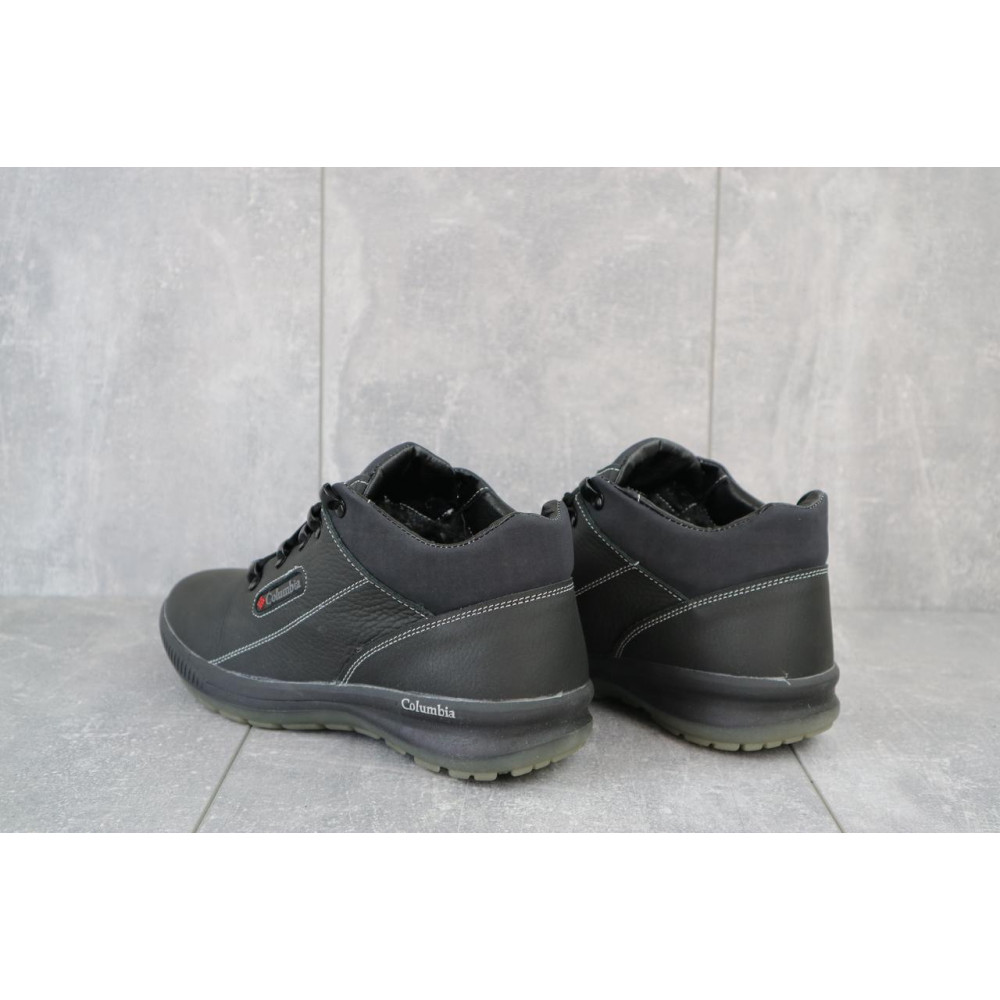Зимние кроссовки мужские - Мужские кроссовки кожаные зимние черные CrosSAV 92 4