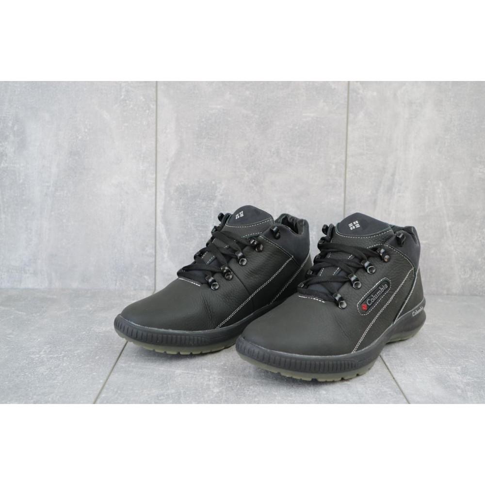 Зимние кроссовки мужские - Мужские кроссовки кожаные зимние черные CrosSAV 92 3