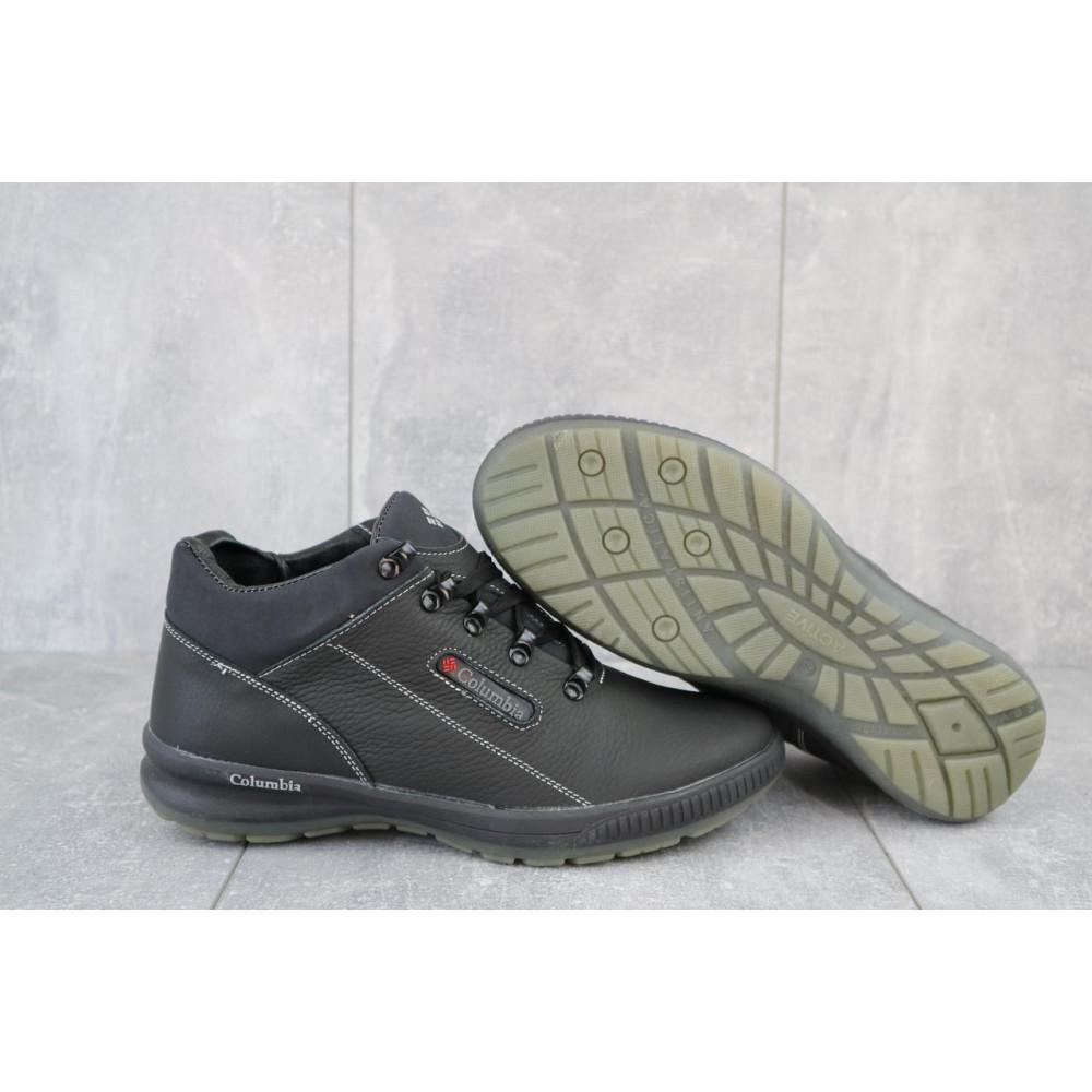 Зимние кроссовки мужские - Мужские кроссовки кожаные зимние черные CrosSAV 92 2