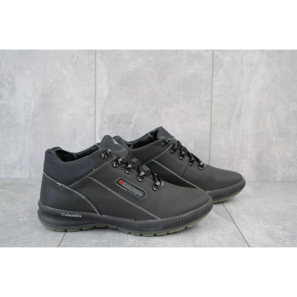 Зимние кроссовки мужские - Мужские кроссовки кожаные зимние черные CrosSAV 92 1