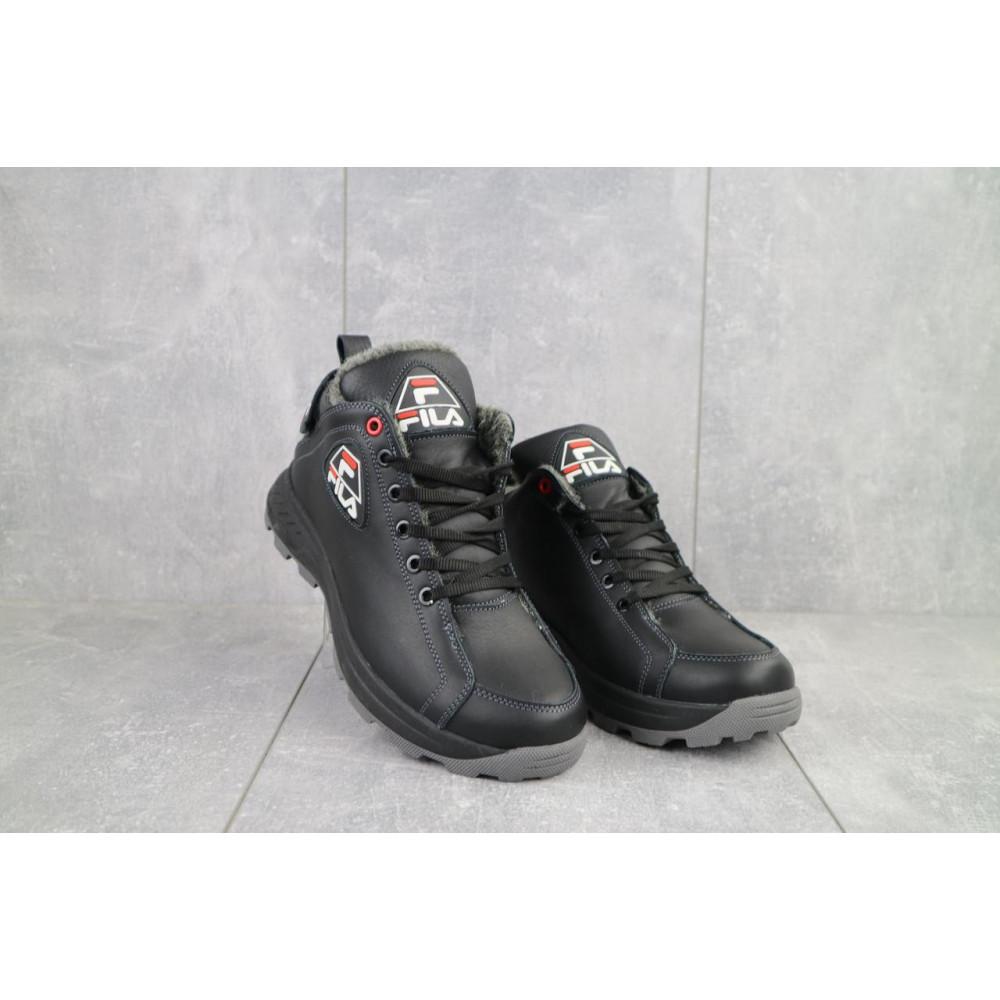 Мужские ботинки зимние - Мужские ботинки кожаные зимние черные Lions F3