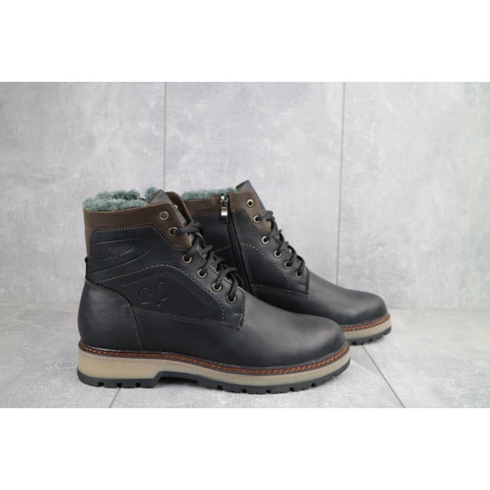 Мужские ботинки зимние - Мужские ботинки кожаные зимние черные Riccone 515 4
