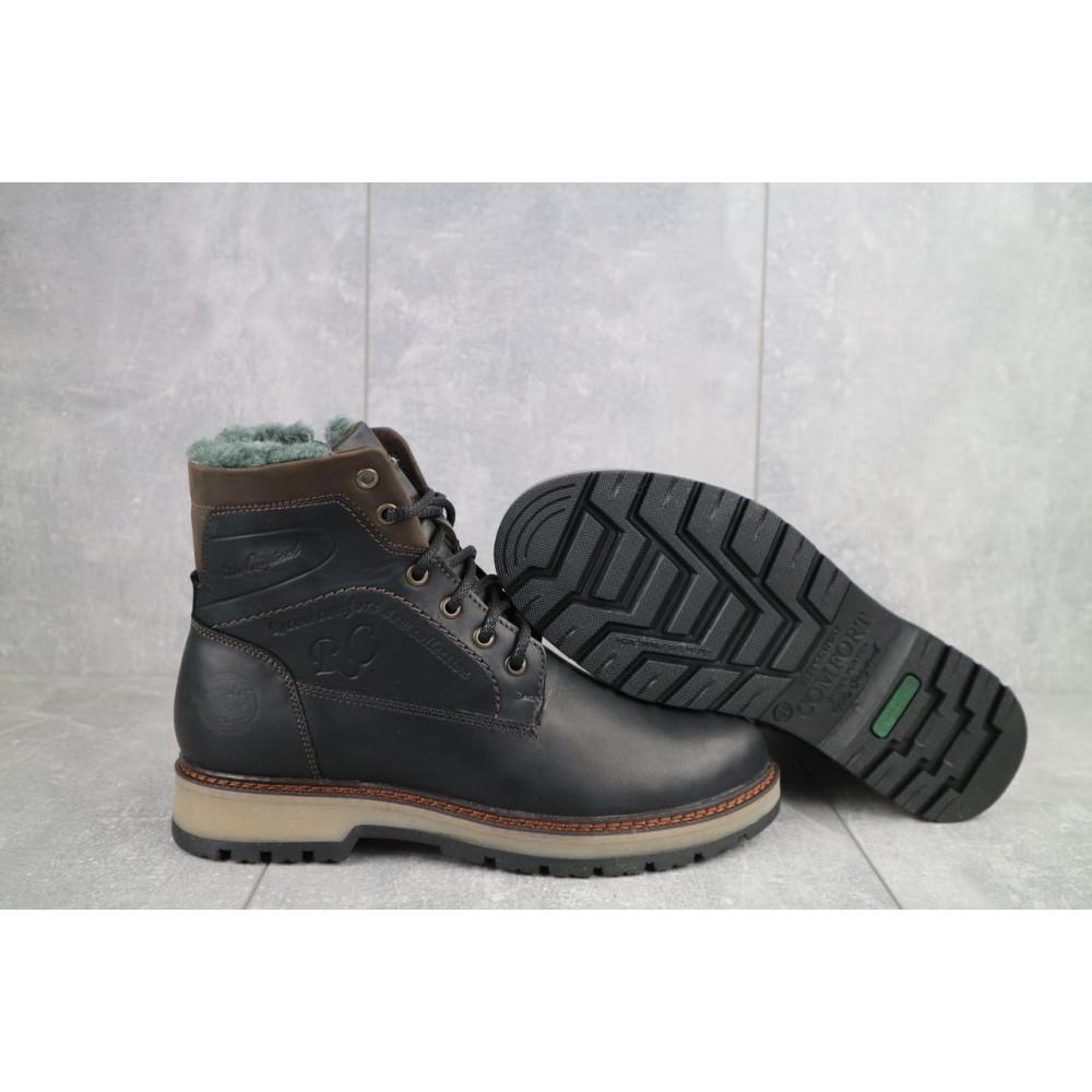 Мужские ботинки зимние - Мужские ботинки кожаные зимние черные Riccone 515 5