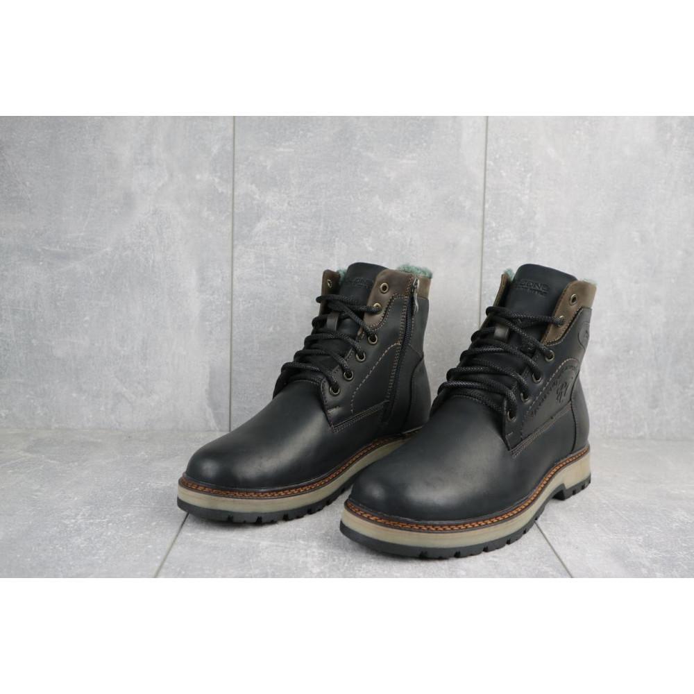 Мужские ботинки зимние - Мужские ботинки кожаные зимние черные Riccone 515 3