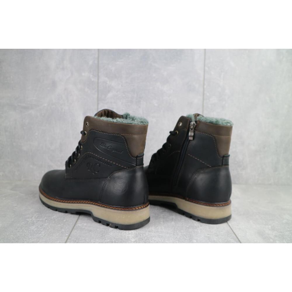 Мужские ботинки зимние - Мужские ботинки кожаные зимние черные Riccone 515 2