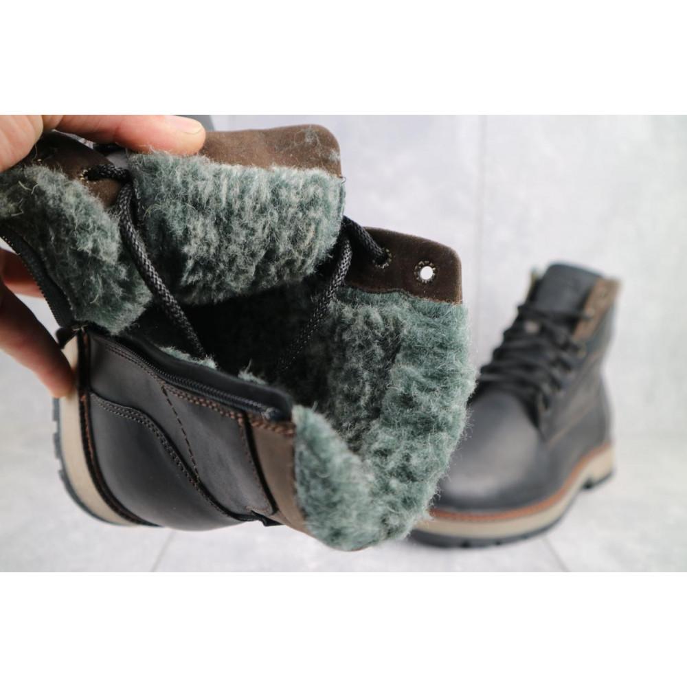 Мужские ботинки зимние - Мужские ботинки кожаные зимние черные Riccone 515 1