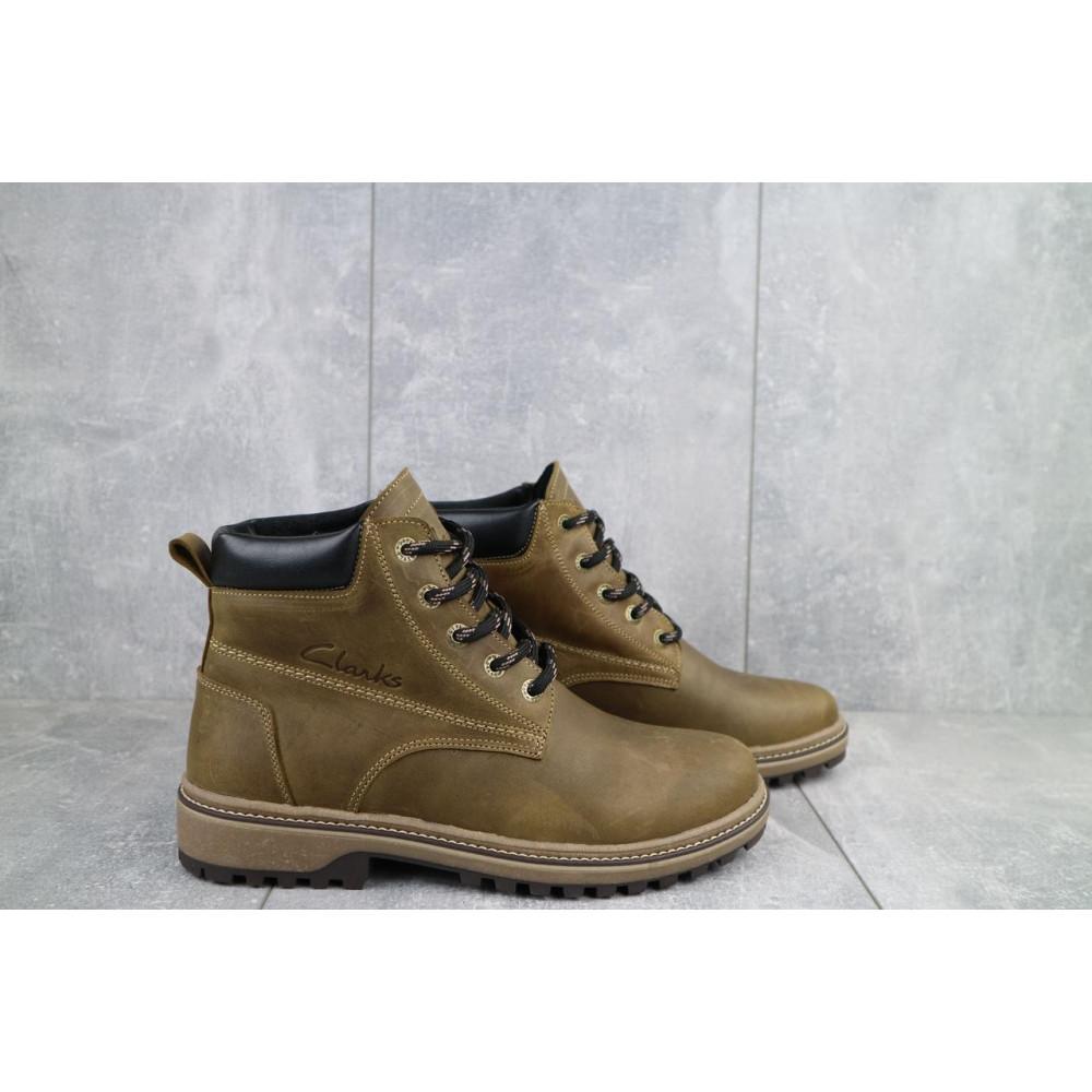 Мужские ботинки зимние - Мужские ботинки кожаные зимние оливковые Yuves 444 9