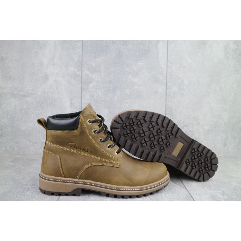 Мужские ботинки зимние - Мужские ботинки кожаные зимние оливковые Yuves 444 8