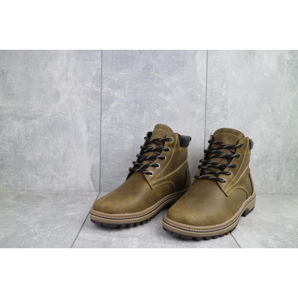 Мужские ботинки зимние - Мужские ботинки кожаные зимние оливковые Yuves 444 7