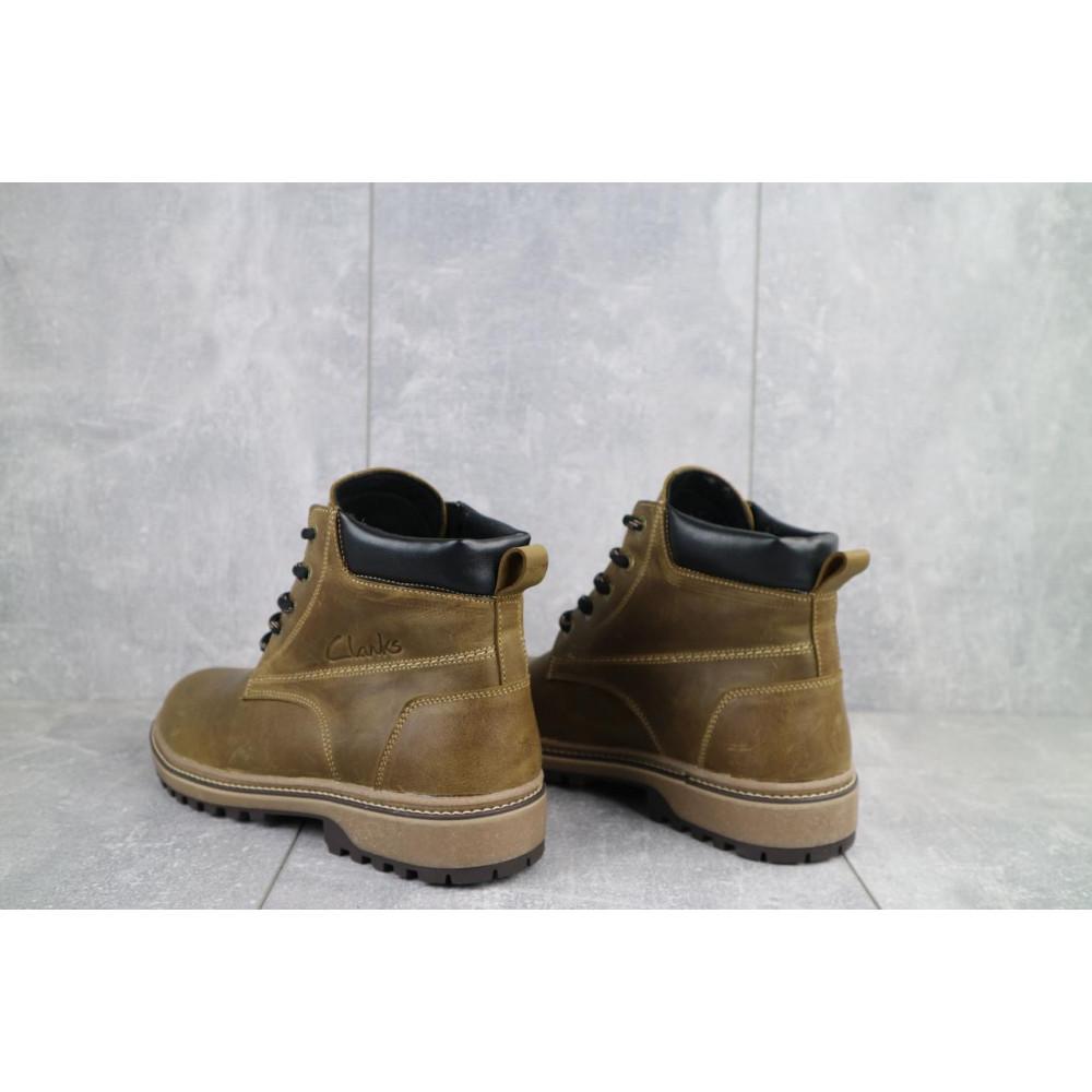 Мужские ботинки зимние - Мужские ботинки кожаные зимние оливковые Yuves 444 6