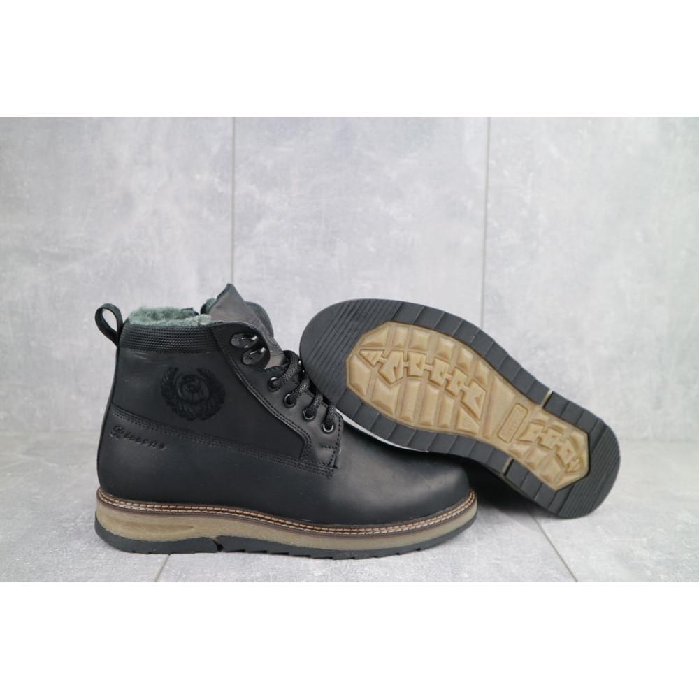 Мужские ботинки зимние - Мужские ботинки кожаные зимние черные Riccone 275