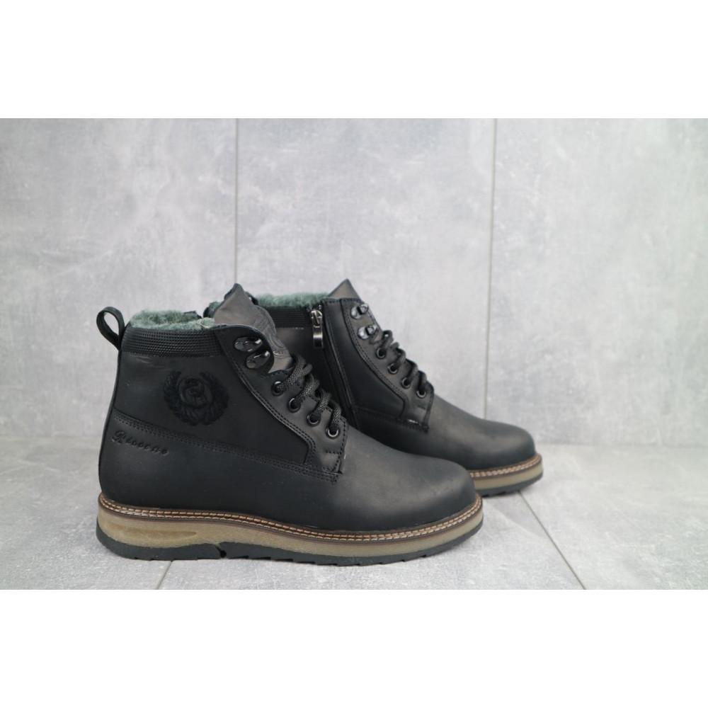 Мужские ботинки зимние - Мужские ботинки кожаные зимние черные Riccone 275 5
