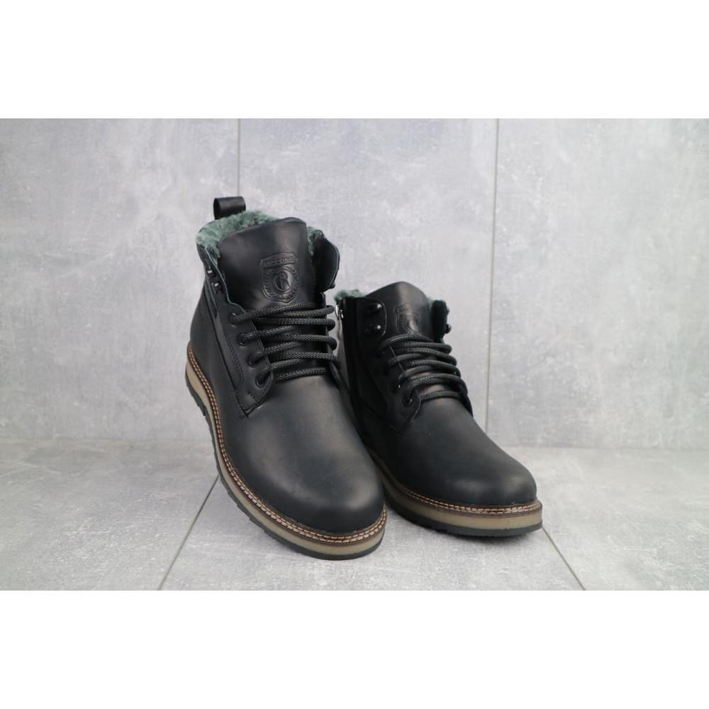 Мужские ботинки зимние - Мужские ботинки кожаные зимние черные Riccone 275 4