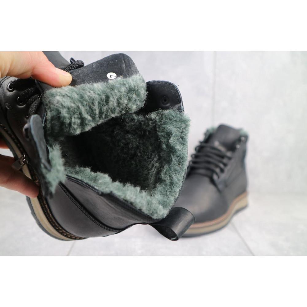 Мужские ботинки зимние - Мужские ботинки кожаные зимние черные Riccone 275 3