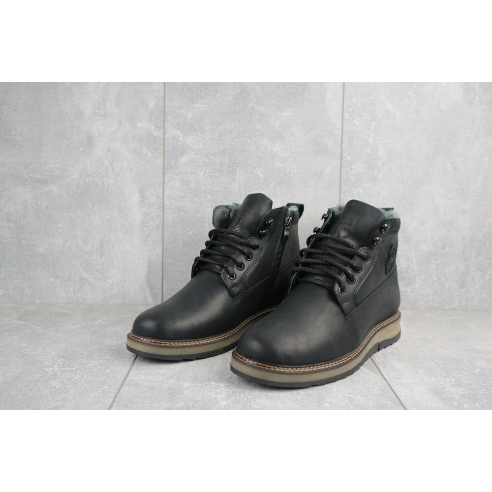 Мужские ботинки зимние - Мужские ботинки кожаные зимние черные Riccone 275 1