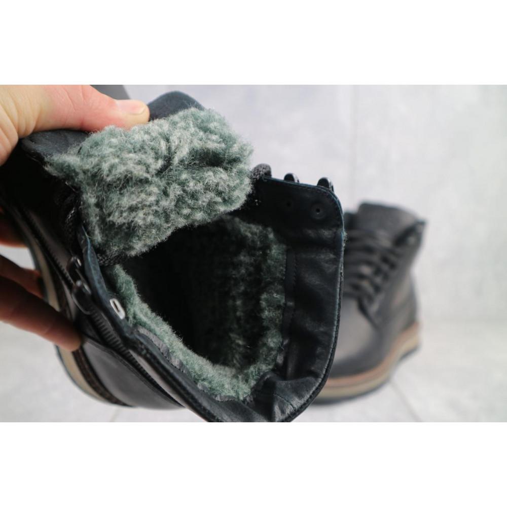 Мужские ботинки зимние - Мужские ботинки кожаные зимние черные Riccone 550 5