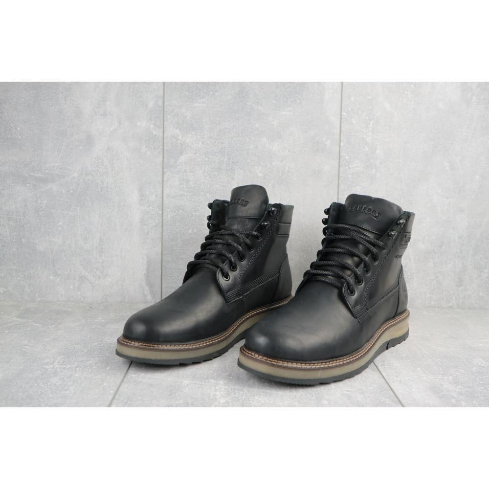 Мужские ботинки зимние - Мужские ботинки кожаные зимние черные Riccone 550 2