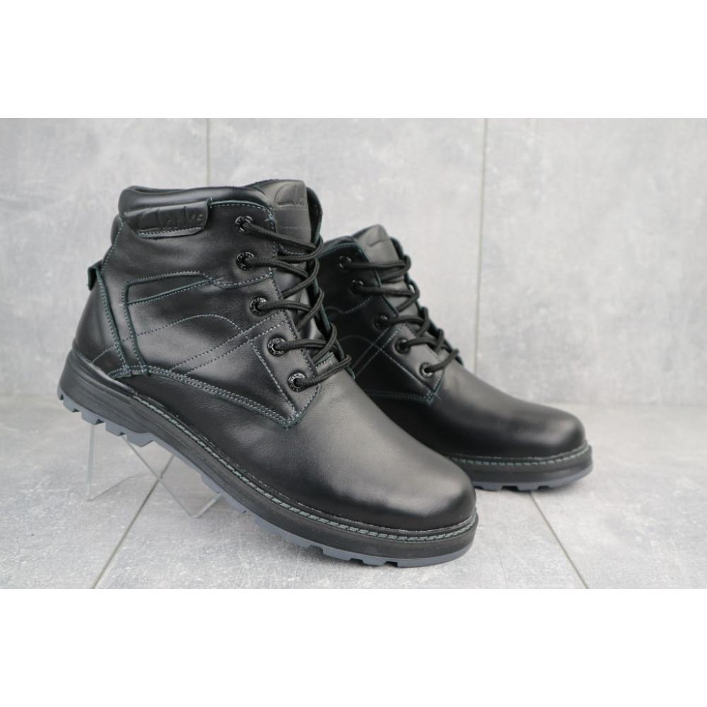 Мужские ботинки зимние - Мужские ботинки кожаные зимние черные Yuves Obr 5