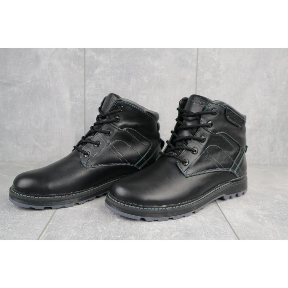 Мужские ботинки зимние - Мужские ботинки кожаные зимние черные Yuves Obr 5 3