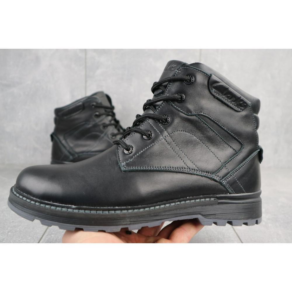 Мужские ботинки зимние - Мужские ботинки кожаные зимние черные Yuves Obr 5 2