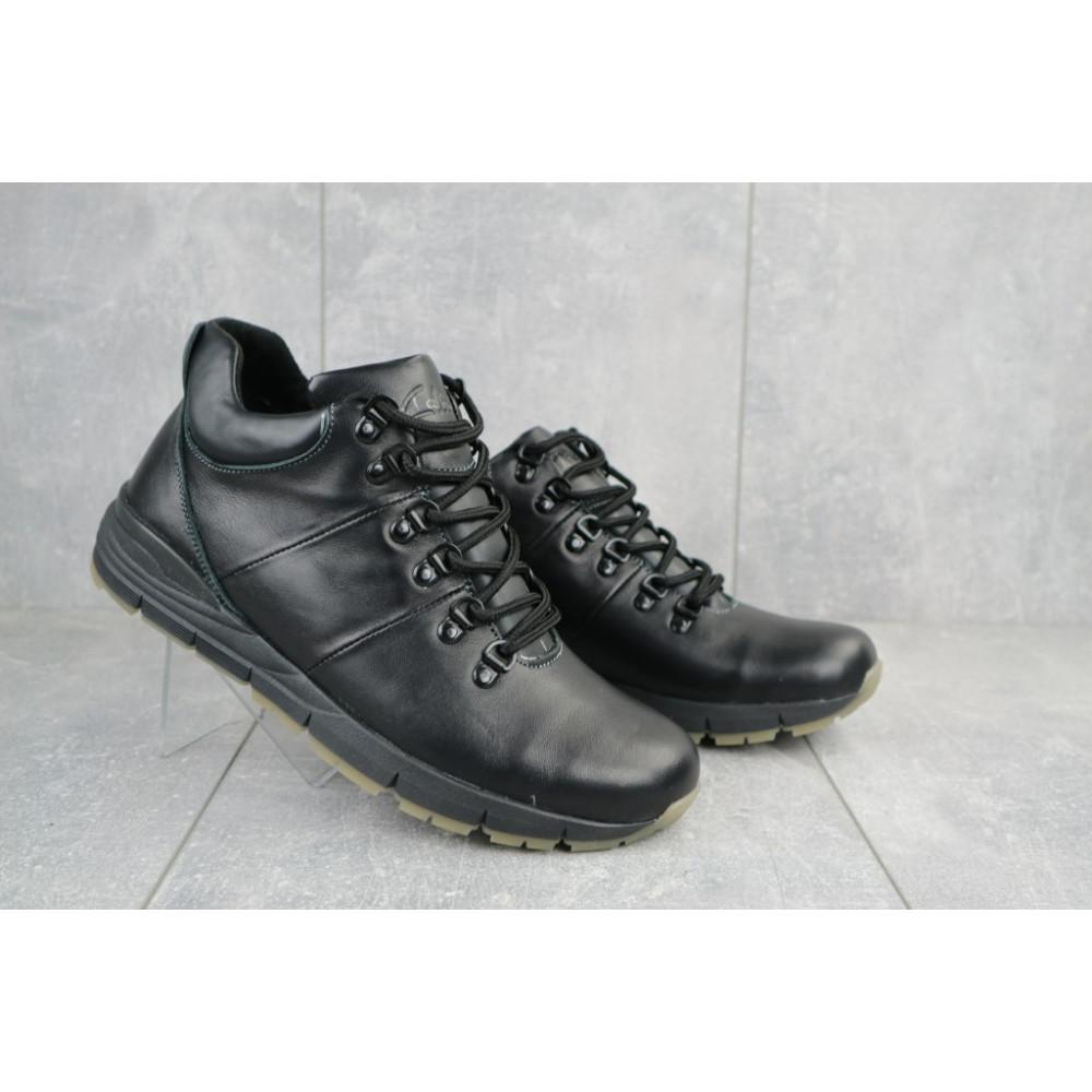 Мужские ботинки зимние - Мужские ботинки кожаные зимние черные Yuves Obr 8